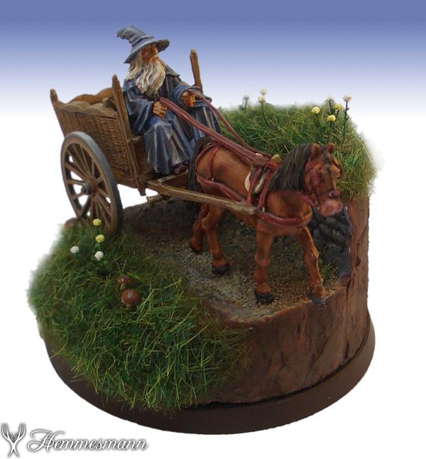Gandalf auf Wagen