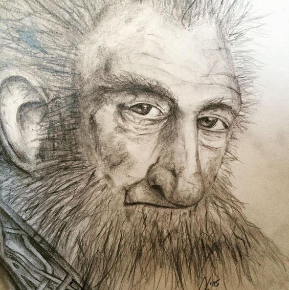 Zeichnung Zwerg